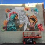 DAM mural in works by artists Jaime Molina and Pedro Barrios